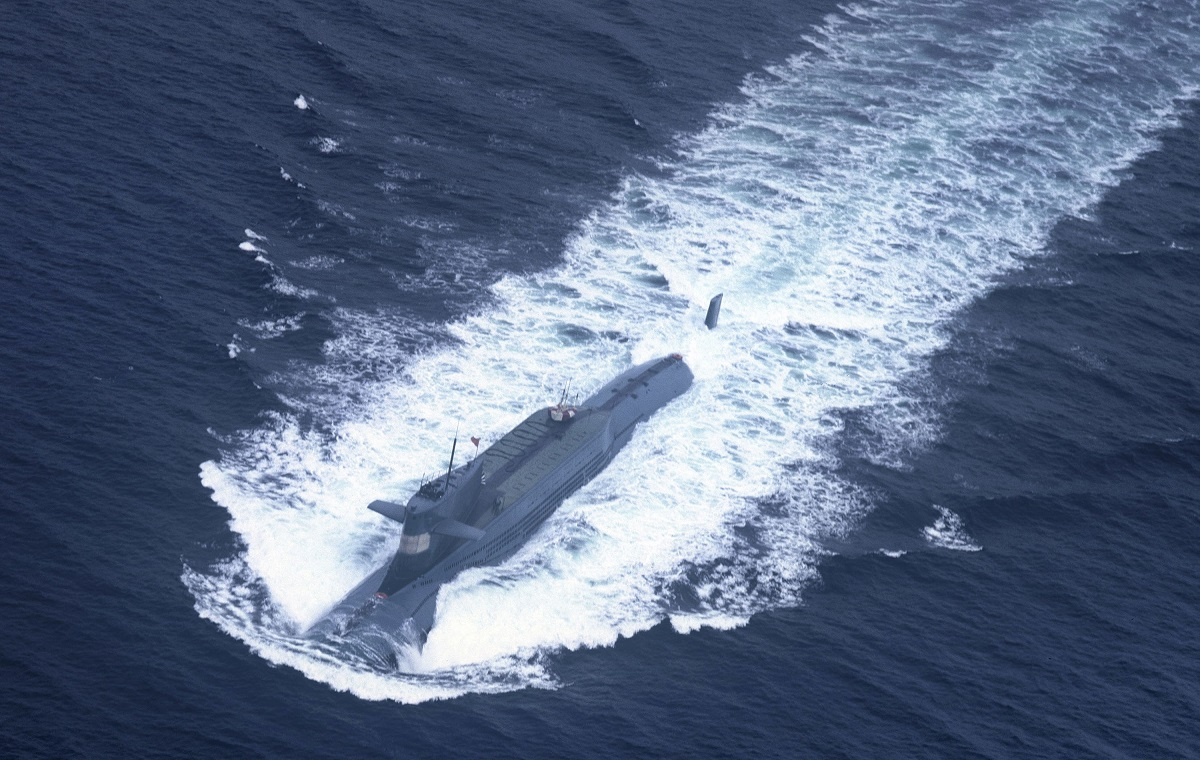 This undated picture shows a nuclear-powered submarine of the People's Liberation Army Navy's North Sea Fleet preparing to dive into the sea. Beijing has put its nuclear-powered submarine fleet on public display, with state media on October 29, 2013 touting the move as unprecedented and necessary to show other countries China's strike capabilities as territorial tensions mount. (AFP/AFP/Getty Images)