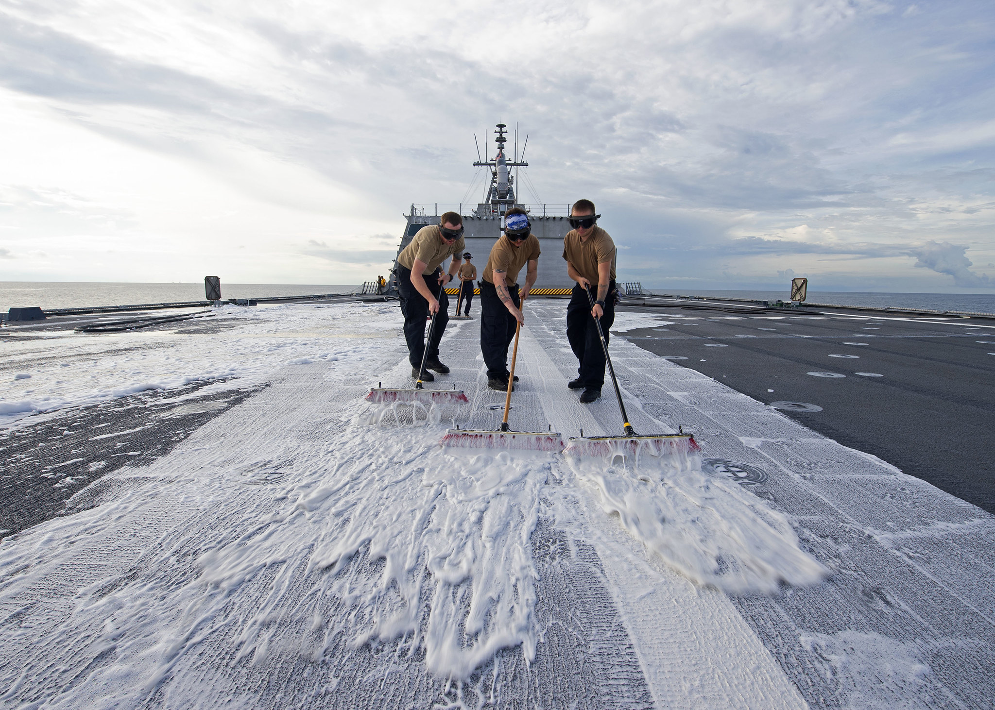 Sailors assigned to the