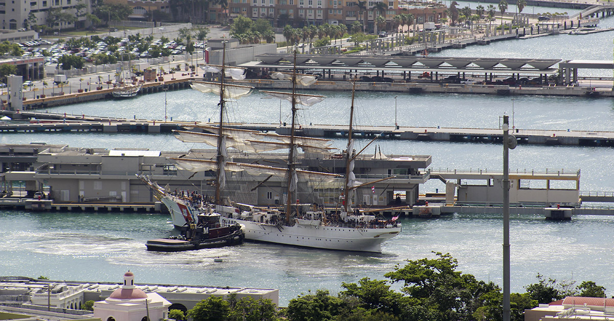 The Coast Guard Cutter Eagle,
