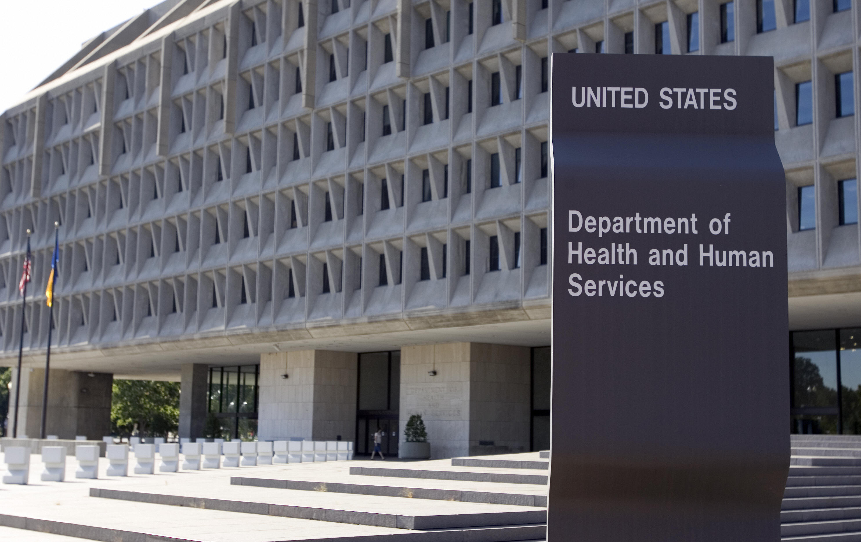 The US Department of Health and Human Services building is shown in Washington, DC, 21 July 2007. (SAUL LOEB/AFP/Getty Images)