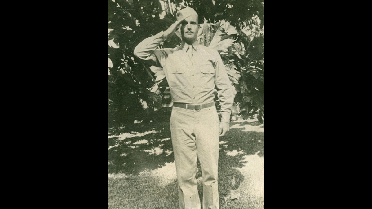 This 1942 file photo provided by Dale Ross shows his uncle, Pfc. Dale W. Ross, in Hawaii. (Courtesy of Dale Ross via AP, File)