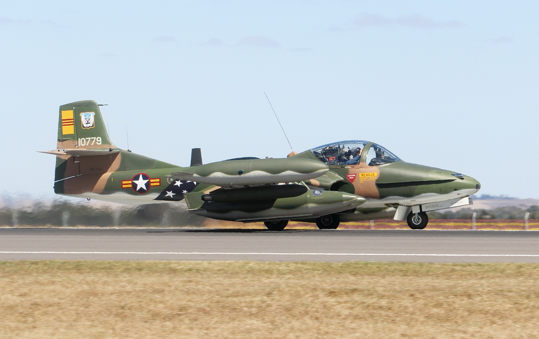 Also present at the Avalon Airshow were a number of restored historical warbirds such as this Cessna A-37B Dragonfly ground-attack aircraft painted in South Vietnamese Air Force markings belonging to Australia's Temora Aviation Museum. (Mike Yeo/Staff)