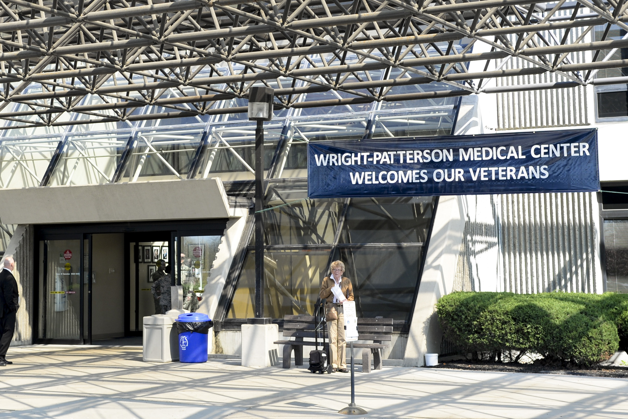 The White House has been discussing a plan to merge the Department of Veterans Affairs and the military health systems. Wright-Patterson Medical Center has a patient sharing agreement with the VA, allowing veterans to attend some medical appointments there. (Wesley Farnsworth/Air Force)