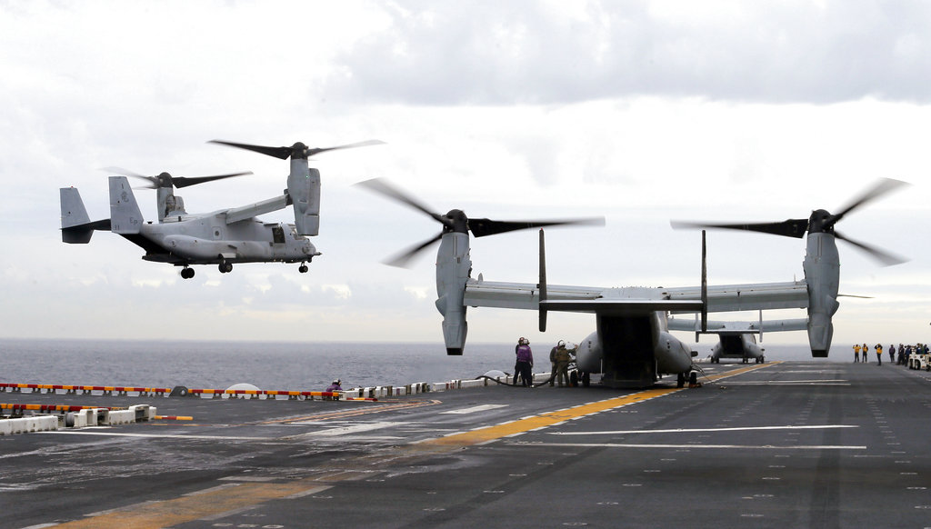 Three Marines killed in Osprey crash off Australia identified