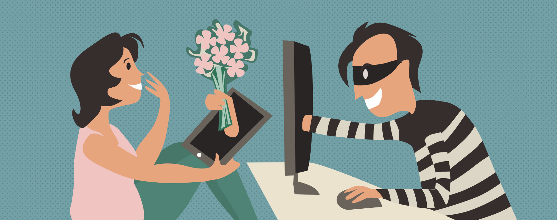 Confidence scams carried out online are still rampant. (Photo credit: R. Stevens/CREST Research)