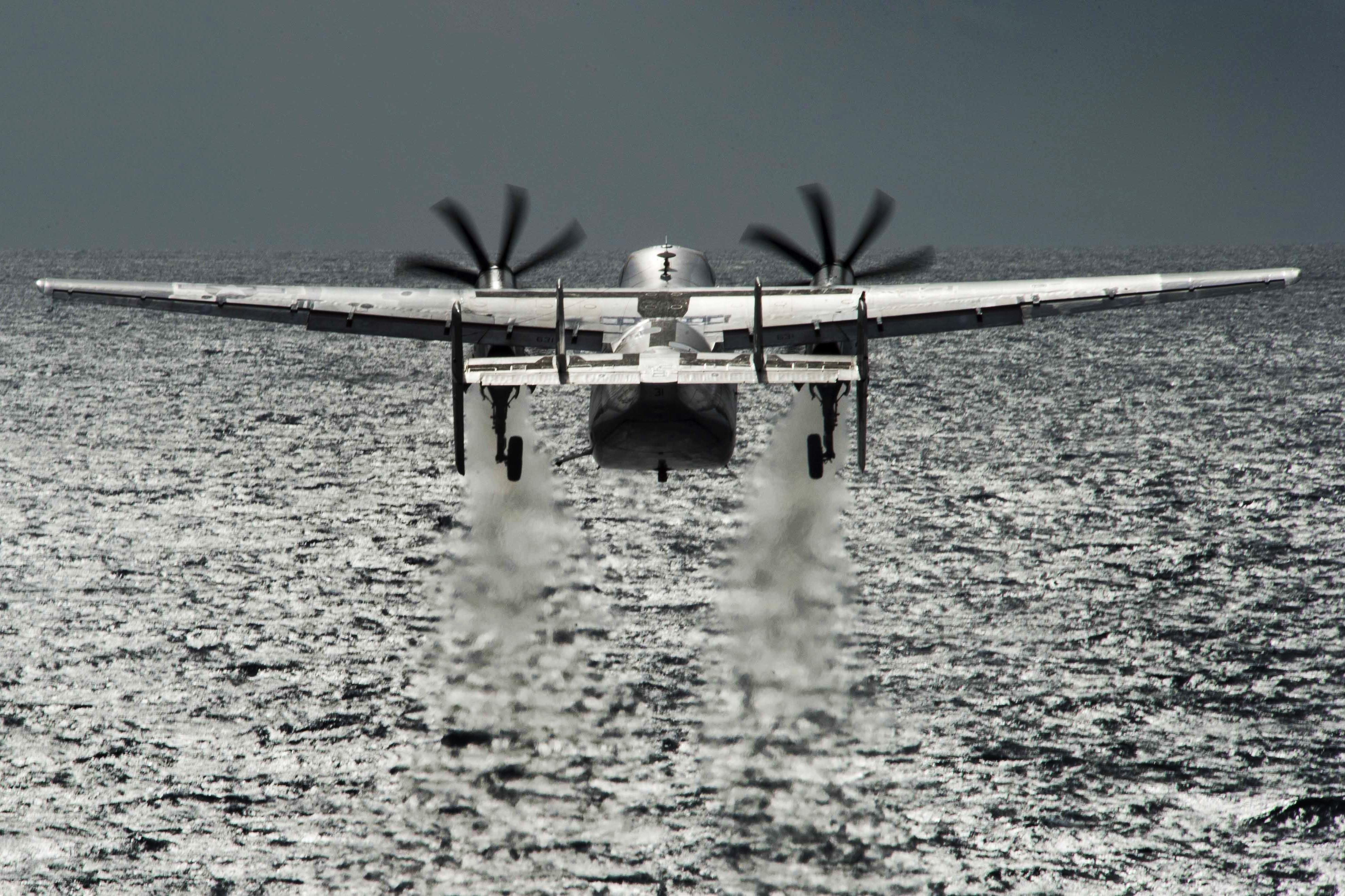 Three people remain missing after Navy COD plane crashes in Pacific