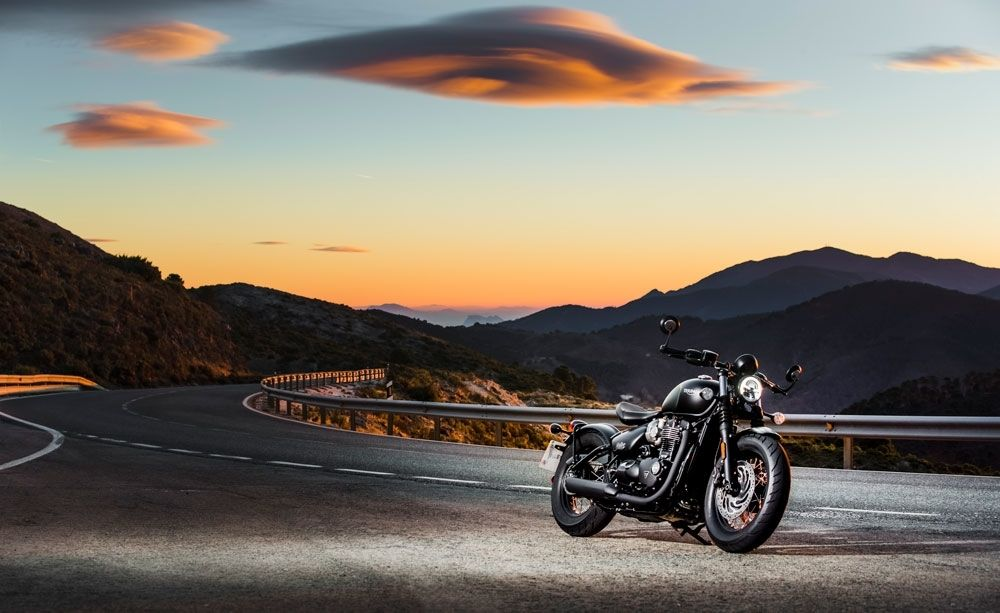Think it looks sinister during the day? Check it out at night. (Triumph Motorcycles)