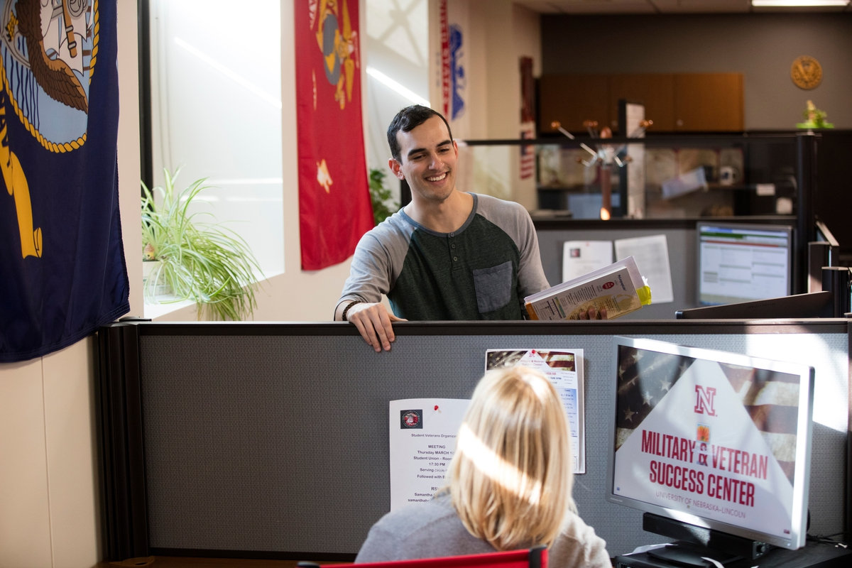Student veterans participate in work-study programs at the University of Nebraska-Lincoln. (Provided by University of Nebraska-Lincoln)