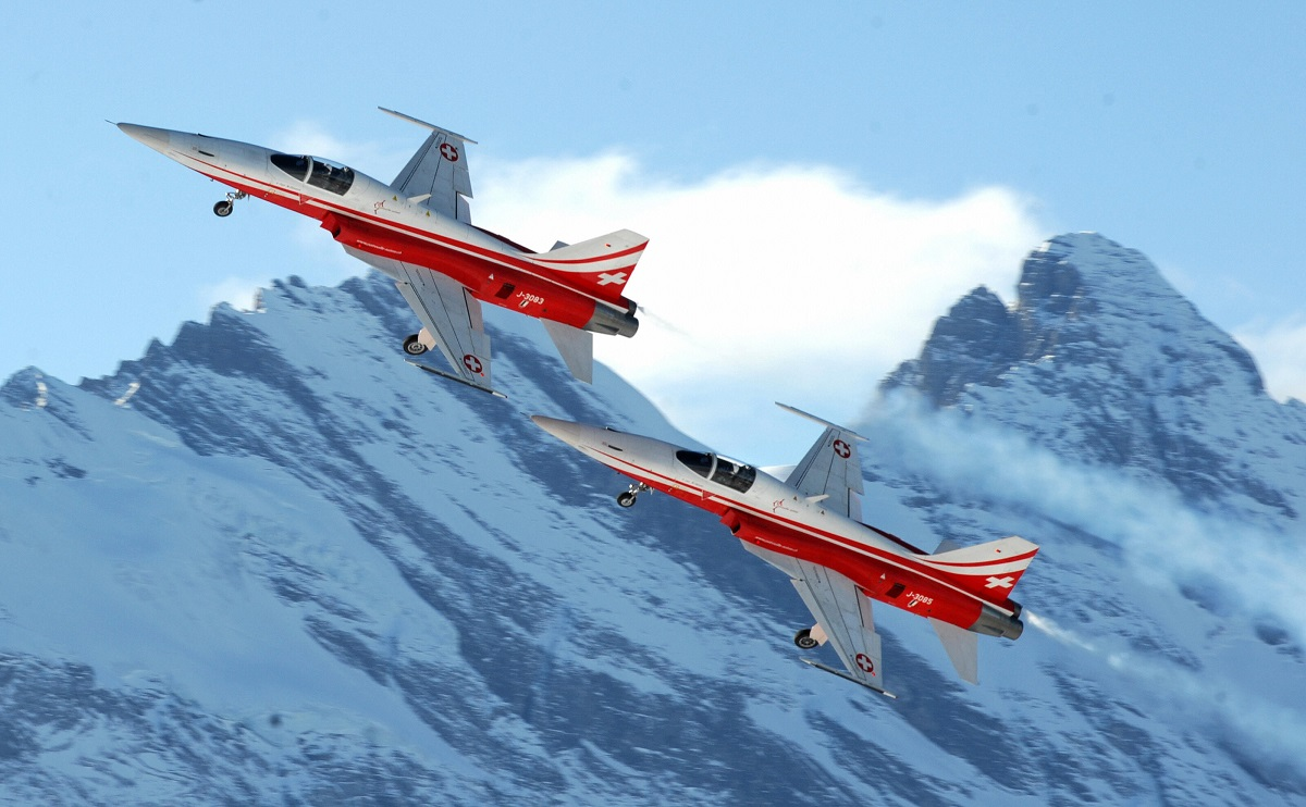 Switzerland's existing fleet of decades-old F-5 jets is considered too outdated to defend its skies and repel intruders. (Joe Klamar/AFP via Getty Images)