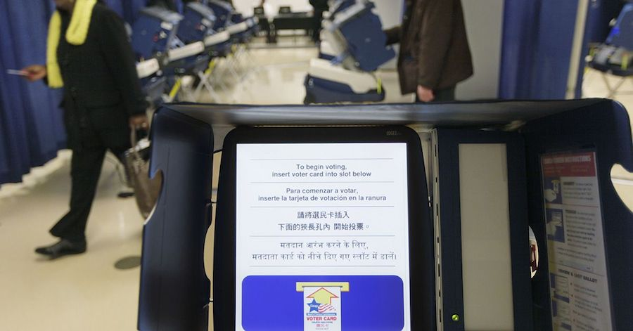Election systems across the United States are facing daily cyber-threats (M. Spencer Green/AP)