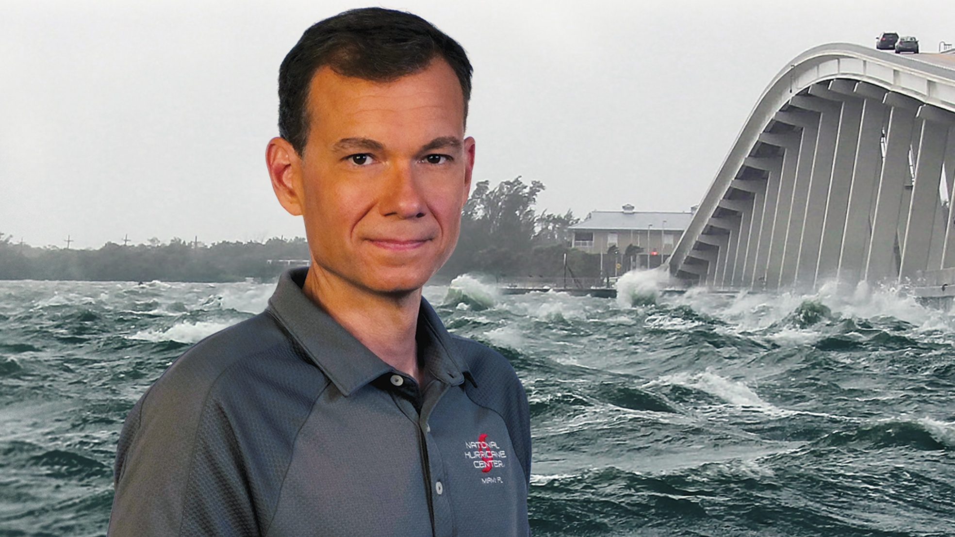 Jaime Rhome, storm surge specialist and team lead at the National Hurricane Center and recipient of the Safety and Law Enforcement Medal. (Braun Film and Video, Inc.)