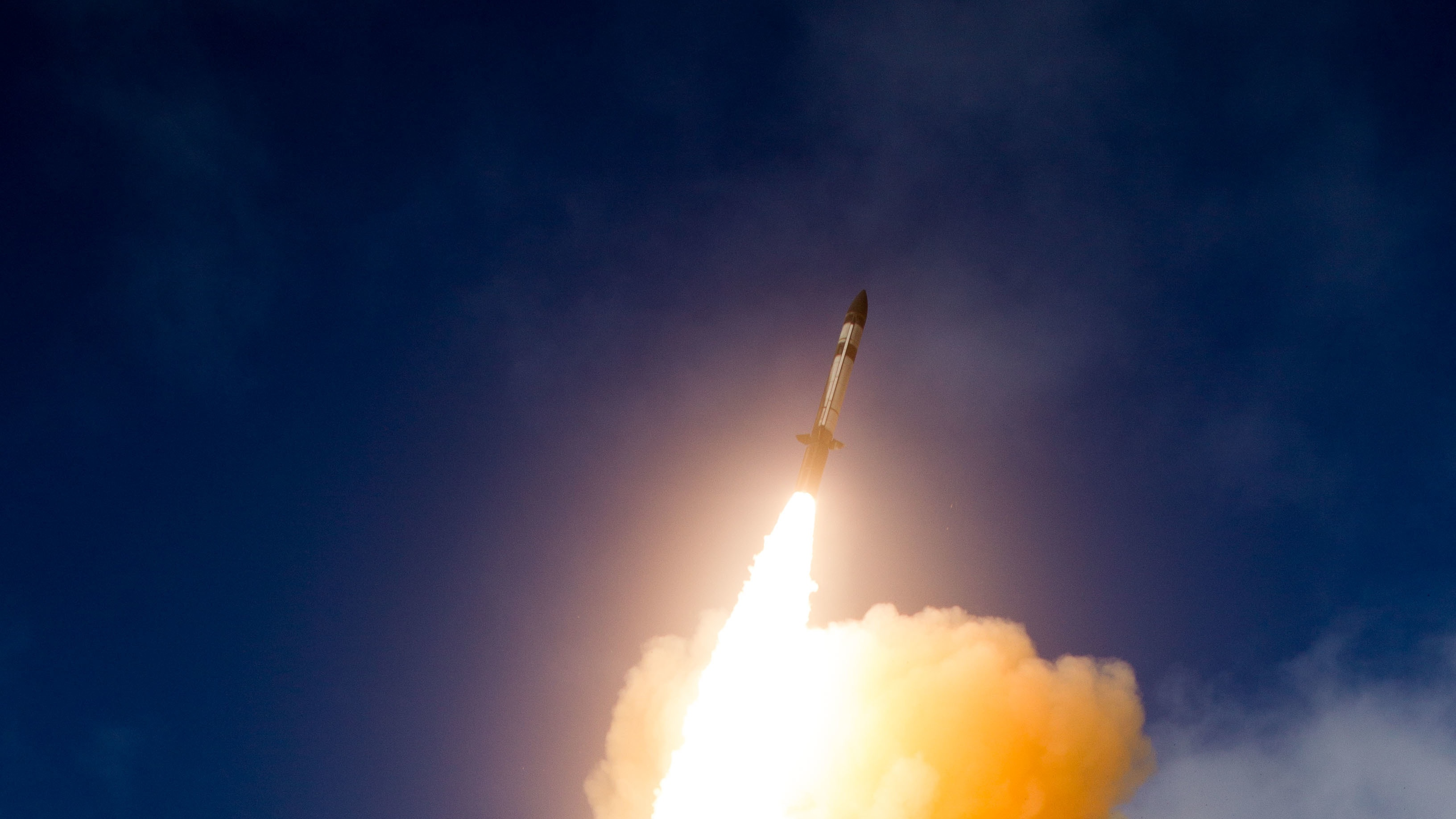 The U.S. Navy and Missile Defense Agency conducted a successful intercept of an intermediate-range ballistic missile with an SM-3 Block IIA fired from an Aegis Ashore facility in Hawaii. (U.S. Missile Defense Agency)