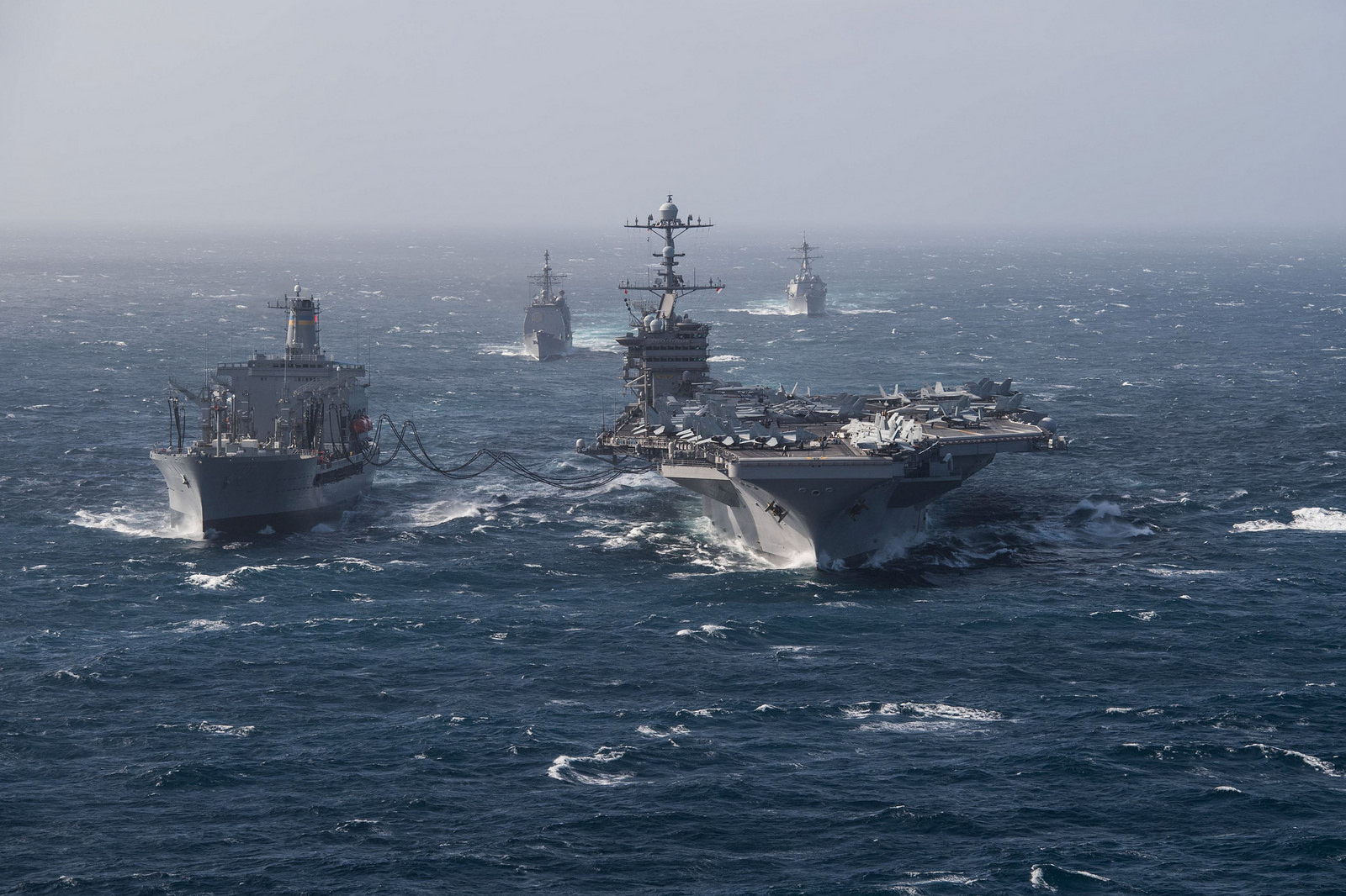 With less than half of the Navy we had 30 years ago, but arguably three times the responsibility, and growing, we must reassert a decisive naval force and its relationship to American prosperity. (U.S. Navy)