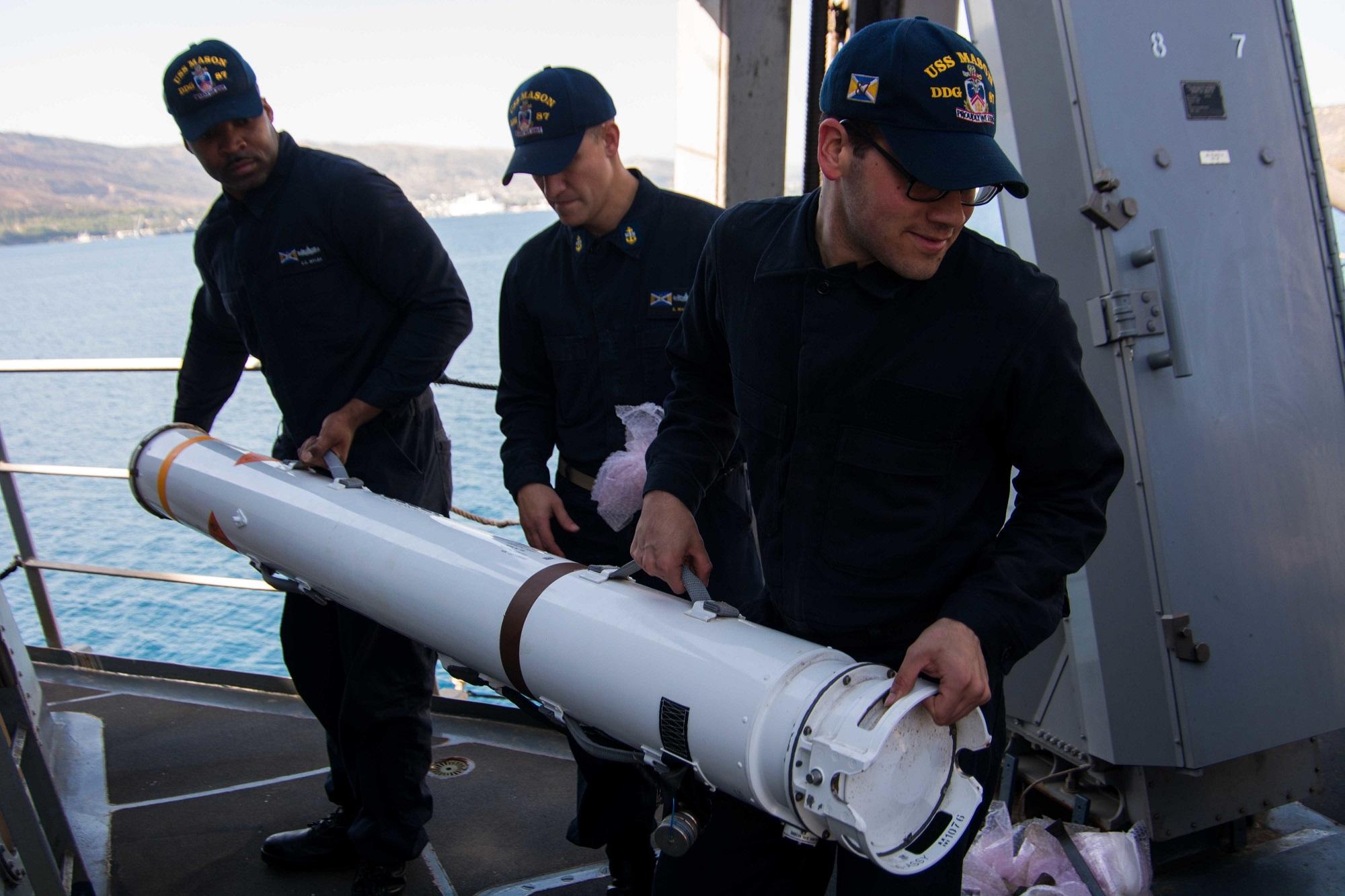 Four ship crews receive Combat Action Ribbon