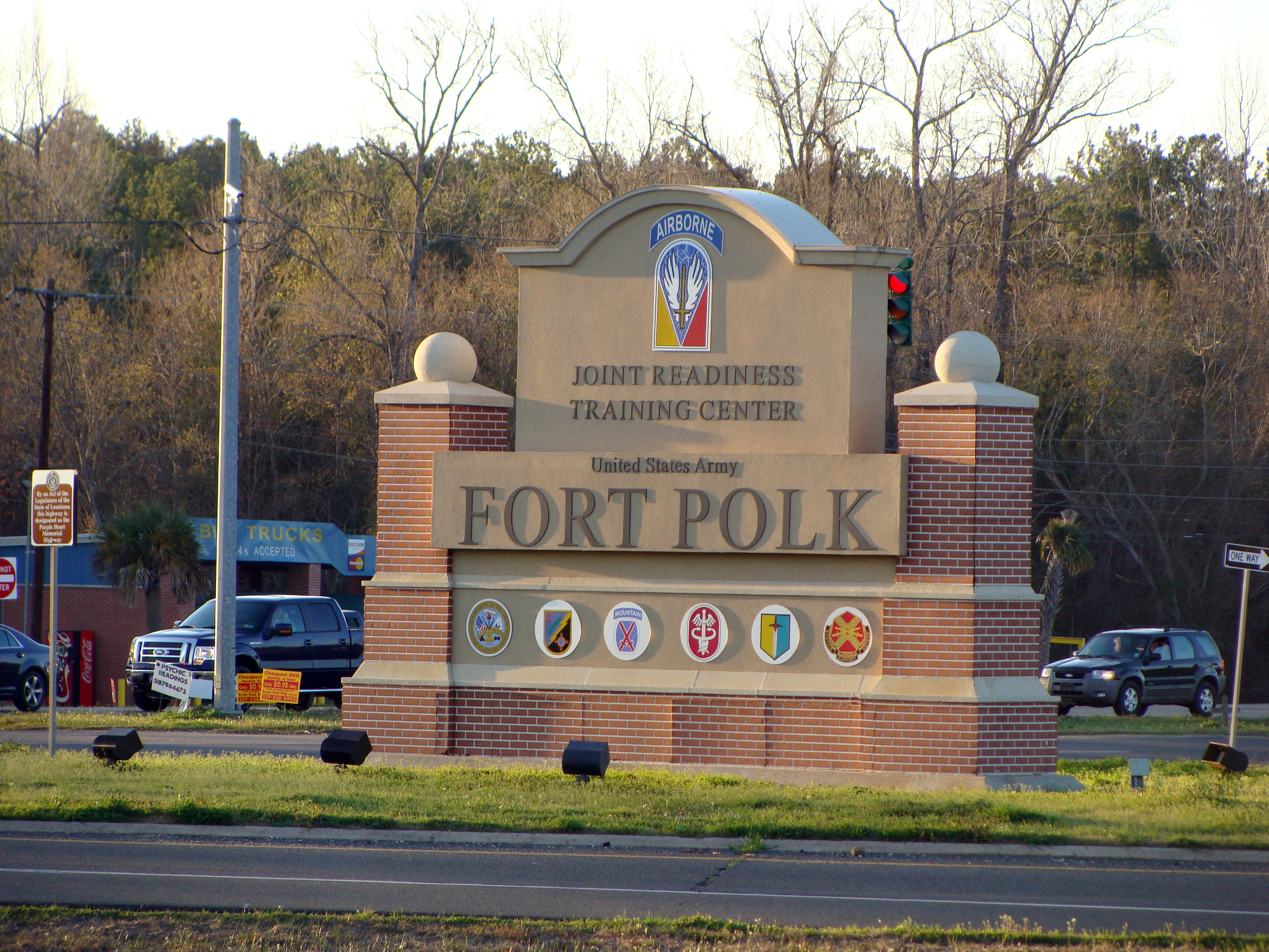 Built in the 1940s, the post is named after Episcopal bishop and Confederate general Leonidas Polk. (Photo by Lolita Baldor/Associated Press