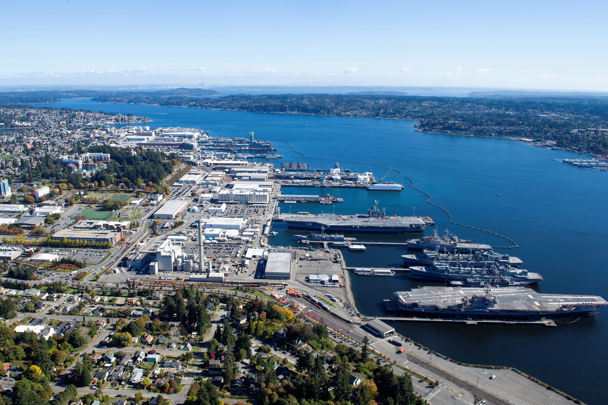 The Puget Sound Naval Shipyard is seen Oct. 13, 2018, at Naval Base Kitsap, Bremerton, Wash. (Naval Base Kitsap)