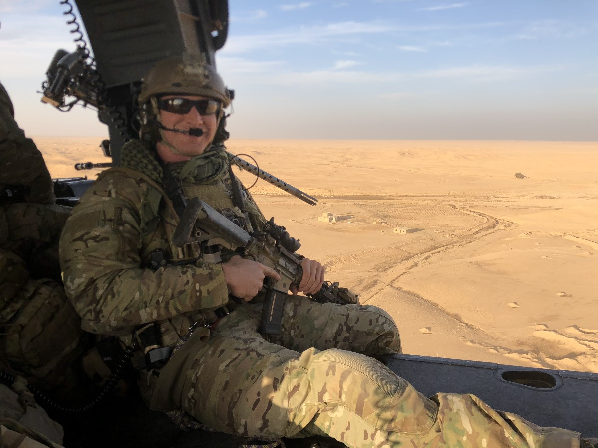 Staff Sgt. Carl Enis, a pararescueman with the 308th Rescue Squadron at Patrick Air Force Base in Florida, was one of seven service members killed in the crash of an HH-60 Pave Hawk in Anbar Province, Iraq, Thursday evening. (Courtesy photo)