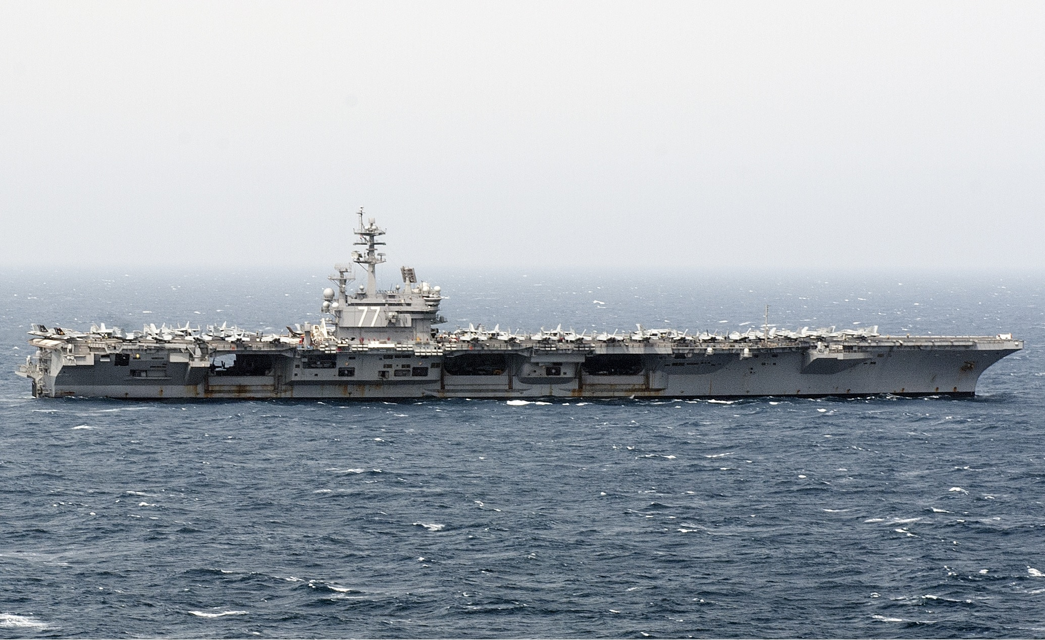 Bush Carrier Strike Group starts its long trip home