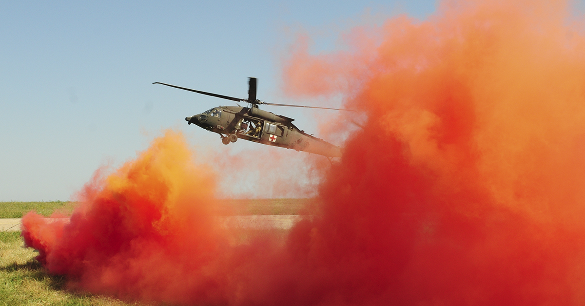 Air Force, Marine Corps and British soldiers conduct Exercise Black Lion and Caduceus, a medical evacuation exercise, in support of Atlantic Resolve, an enduring training exercise between NATO and U.S. Forces at Mihail Kogalniceanu Air Base in Romania, August 16, 2018. U.S. and NATO forces worked together as a cohesive unit to execute a downed aircraft search and rescue mission. (Spc. Hannah Tarkelly/Army)