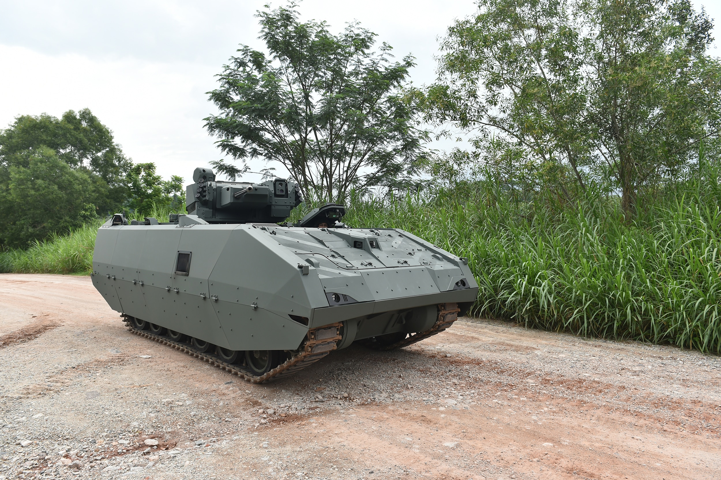 Developed jointly by Singapore's Defence Science and Technology Agency, Singapore Technologies Kinetics and ST Engineering's land systems division, the Next Generation AFV is expected to provide Singapore's armored forces with enhanced firepower, protection, mobility and situational awareness. (Photo courtesy of ST Kinetics)