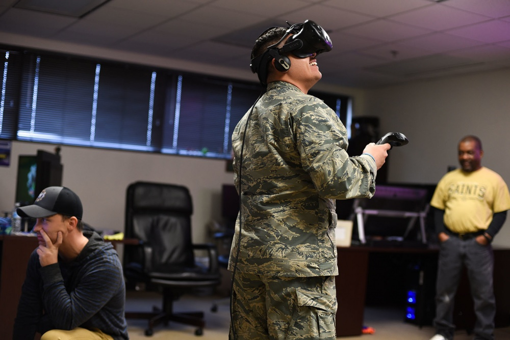 Technologies like virtual reality used for training programs will help the U.S. military stay ahead of other countries like China and Russia, according to Maj. Gen. William Hix, deputy director of the Army Modernization Command Task Force. (Alan R. Quevy/U.S. Air Force)