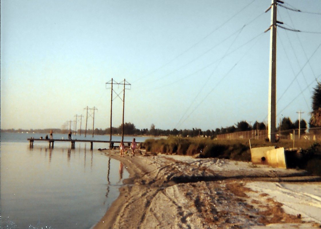 Kristen Emery and her siblings played on the shore of the Banana River at Patrick Air Force Base in Florida in the early 1980s and would fish from the docks, eating what they caught. (Courtesy of Kristen Emery)