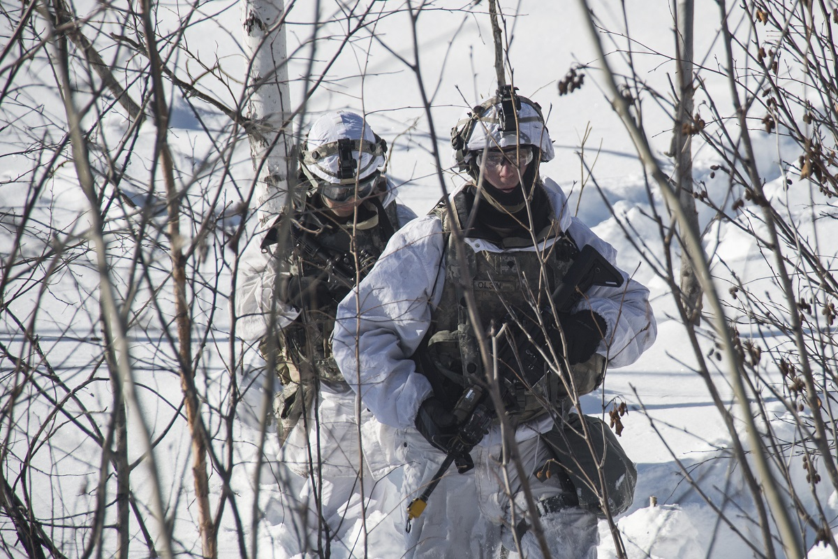 Arctic Edge 2018 is a biennial, large-scale, joint-training exercise that prepares and tests the U.S. military's ability to operate tactically in the extreme cold-weather conditions found in Arctic environments. ( Mass Communication Specialist 1st Class John Banfield/Navy).