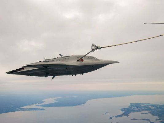 Two carriers will get the MQ-25A Stingray unmanned tanker by 2019
