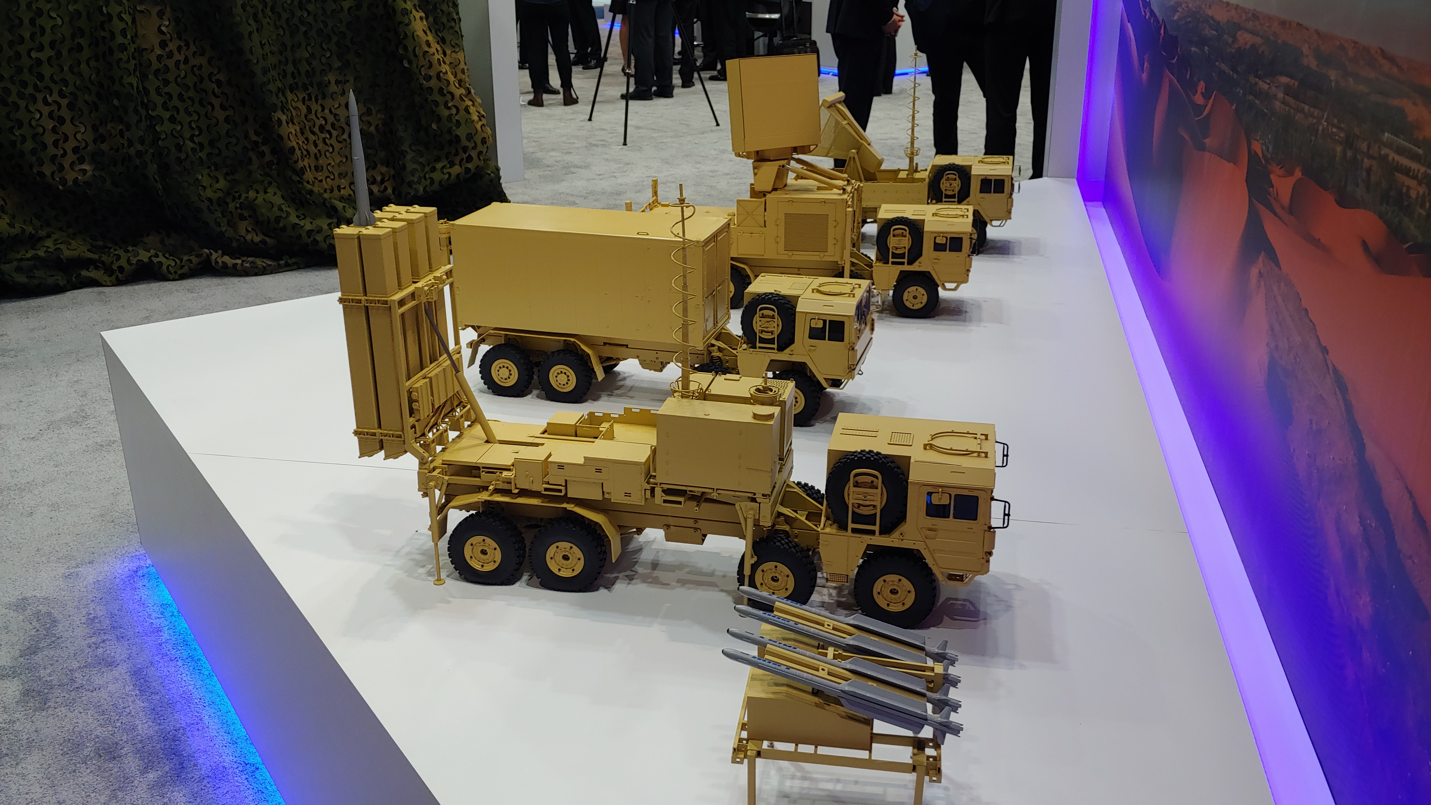 The Falcon air defense system, made by Lockheed Martin, Saab and Diehl Defence, on display at IDEX 2019 in Abu Dhabi. (Jeff Martin/Staff)