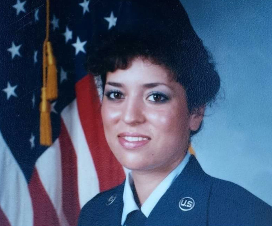 Denise Torri and her husband served at George Air Force Base together from 1986 to 1989. She was an aircraft maintenance scheduler for the OV-10s, he was a weapons armament specialist. They got married in 1987 and got pregnant soon after. She miscarried. (Photo courtesy Denise Torri)