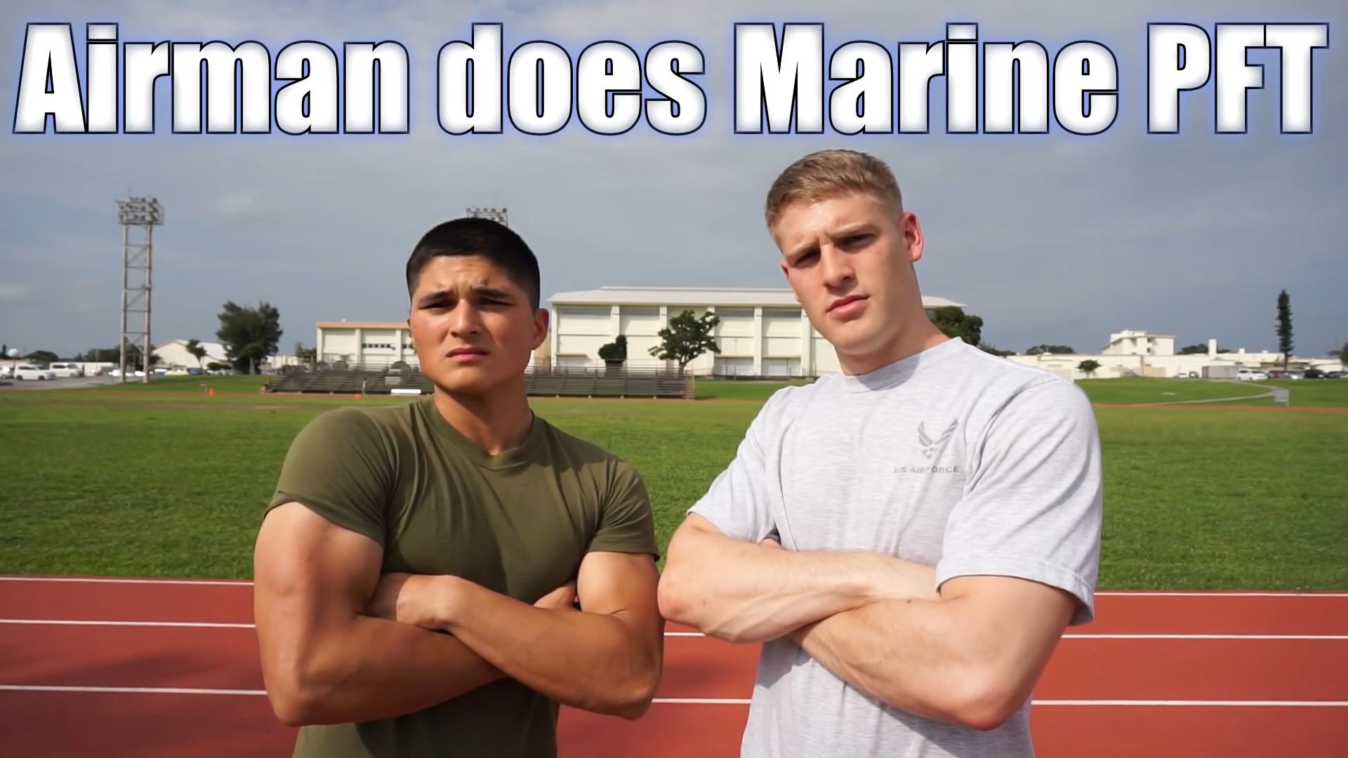 Airman Kyle Gott and Marine Armando Nava appear in one of Gott's YouTube videos.