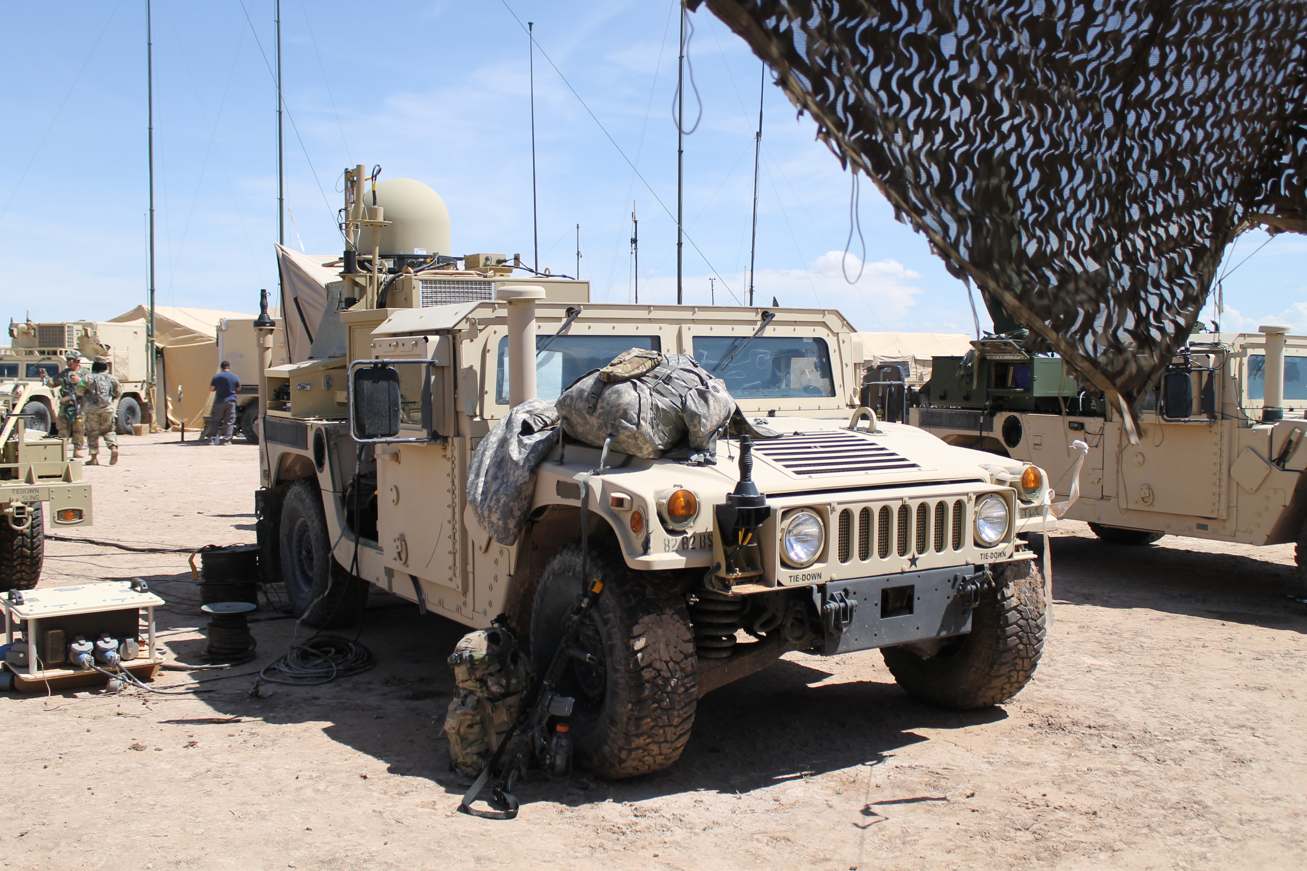 The TCN-L was performing well during tests out at the NIE, according to users, and provided much needed mobility. It's important to move network communication systems regularly in order to avoid detection by enemy looking to locate forces or jam connections. (Jen Judson/Staff)