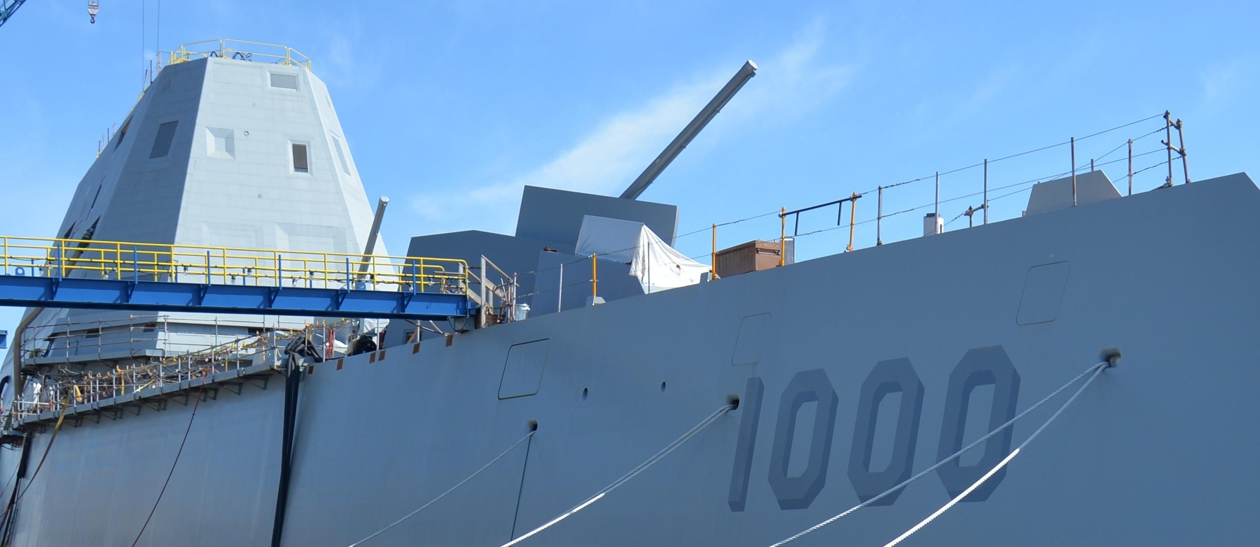New Warship's Big Guns Have No Bullets
