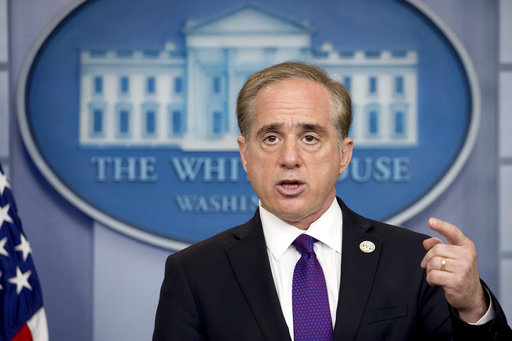 Veterans Affairs Secretary David Shulkin speaks at the daily press briefing at the White House in Washington on June 5, 2017. (Andrew Harnik/AP)