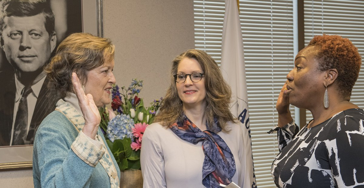 Peace Corps Director Josephine Olsen (pictured left) will chair the 218 Combined Federal Campaign. (Peace Corps)