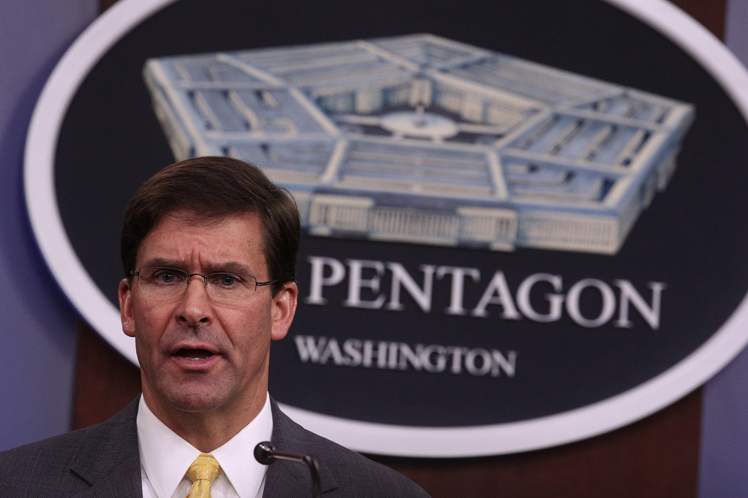 Secretary of Defense Mark Esper recused himself from the JEDI cloud decision. (Alex Wong/Getty Images)