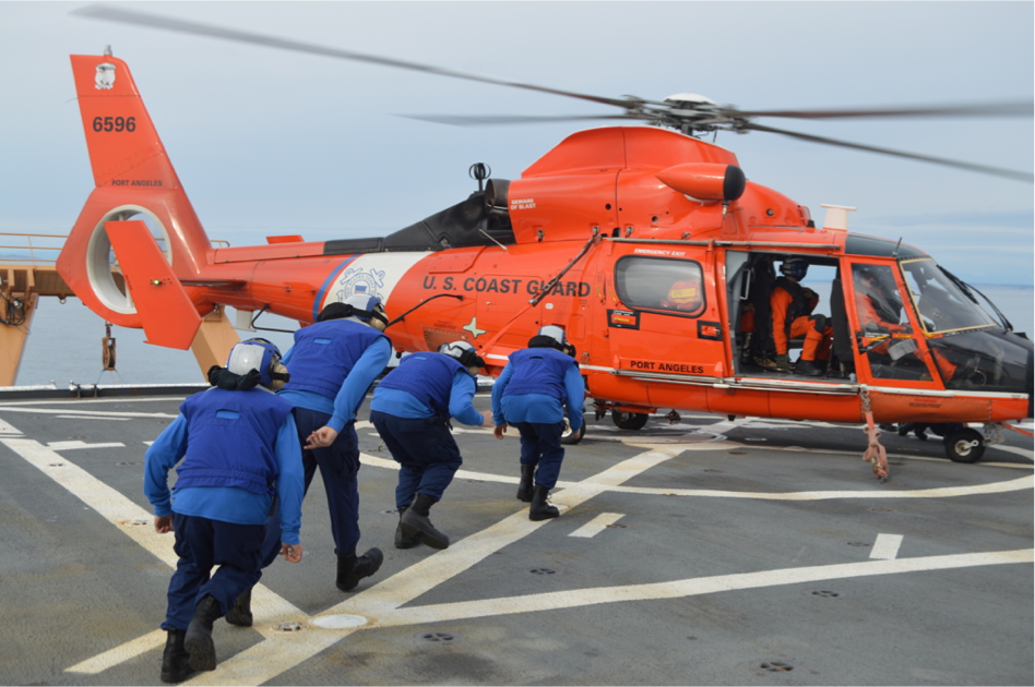 Worried about the impact of handheld lasers on airborne rescue operations, the Coast Guard is developing new protective eyewear. (Samuel Wood/Coast Guard)