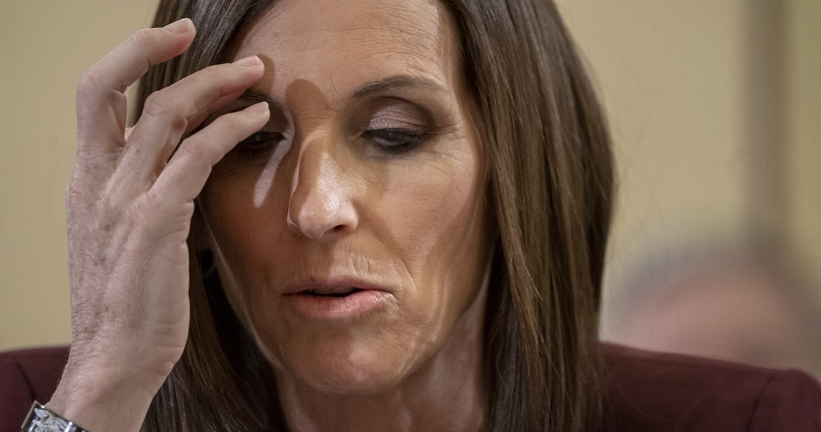 Arizona Sen. Martha McSally, the first female fighter pilot to fly in combat, recounts her rape by a superior officer during a March 6 Senate hearing about prevention and response to sexual assault in the military. (AP Photo/J. Scott Applewhite)