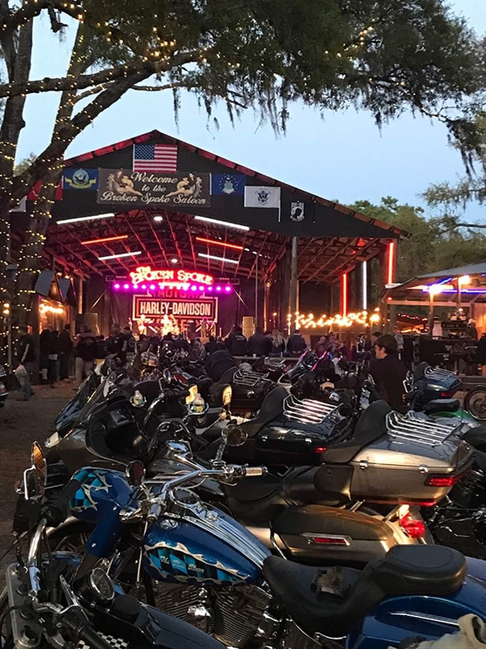 It's not Daytona Bike Week without a visit to the Broken Spoke Saloon. (Jordan Mastagni)