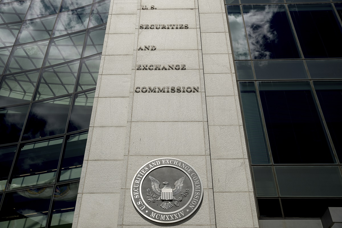 U.S. Securities and Exchange Commission building, Saturday, Aug. 5, 2017, in Washington, D.C. (Andrew Harnik/AP)