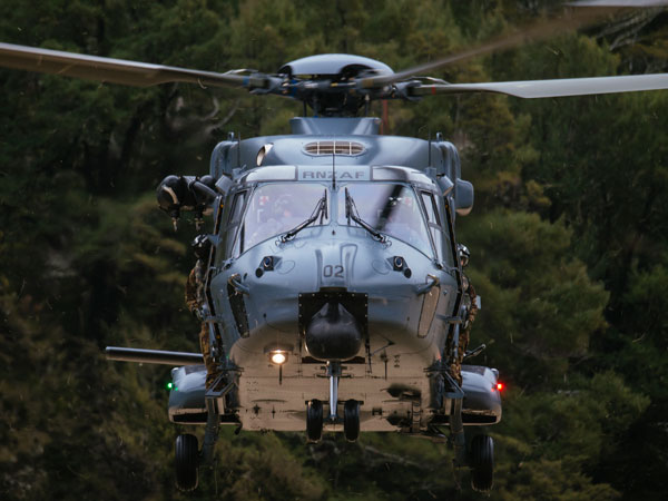 The Royal New Zealand Air Force's 10-ton class of NH90s were delivered between 2011 and 2014 under a $571 million contract replacing a fleet of 14 UH-1H Iroquois helicopters. (Royal New Zealand Air Force)