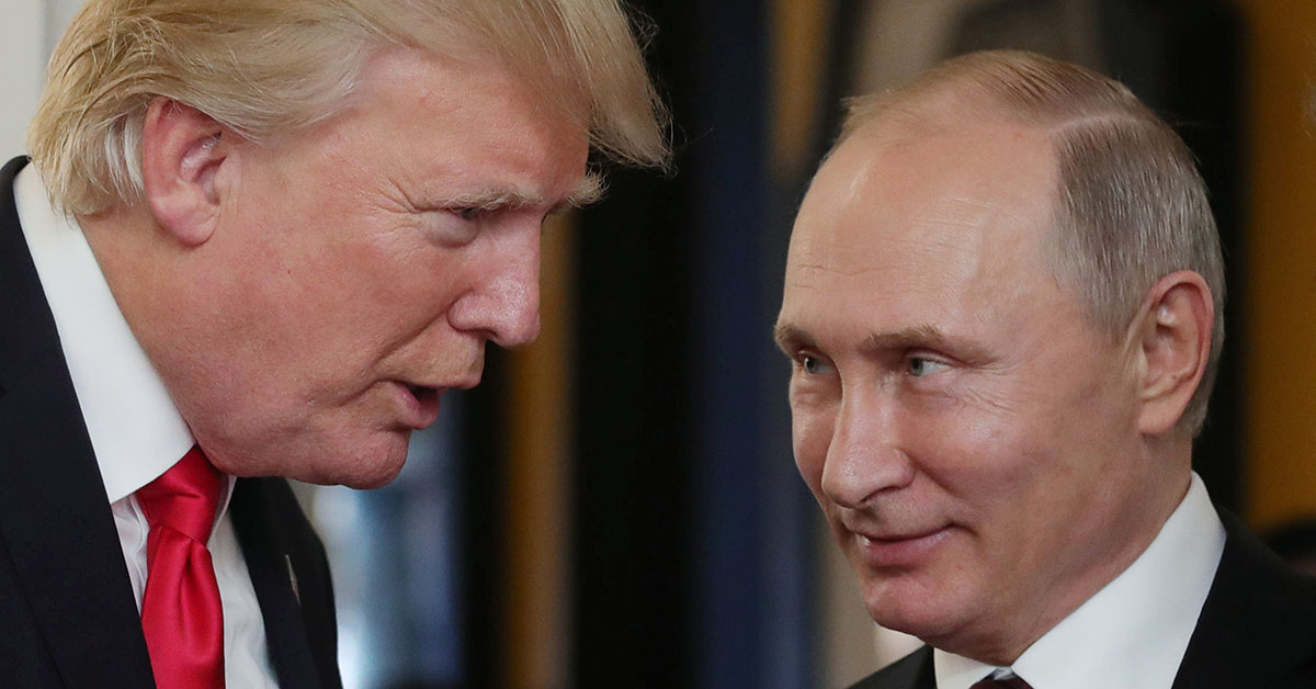 Although U.S. officials say that Russia is attacking American critical infrastructure, it is unclear if President Donald Trump will confront Russian leader Vladimir Putin. (Mikhail Klimentyev/AFP via Getty Images)