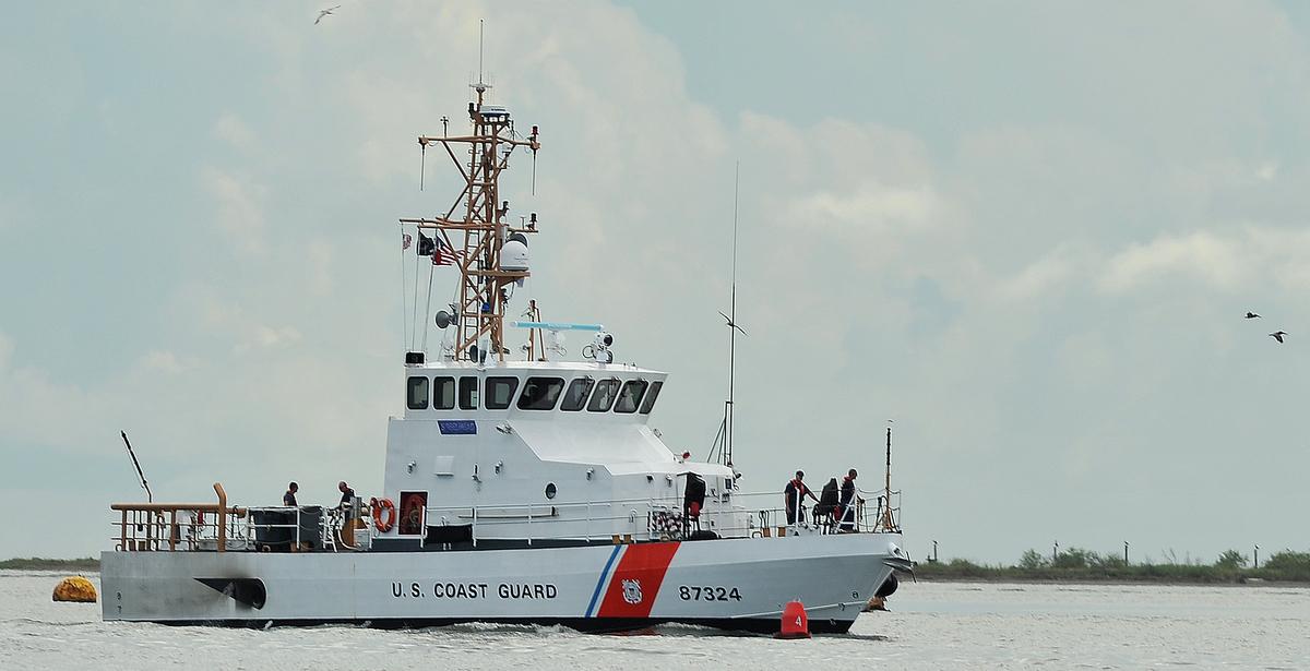 The Coast Guard cutter Steelhead is an 87-foot patrol boat. (Coast Guard)