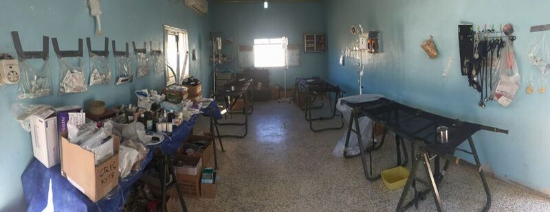 The trauma bay the Special Operations Surgical Team set up in an abandoned home a few kilometers from the front lines in the fight against the Islamic State. (Air Force)
