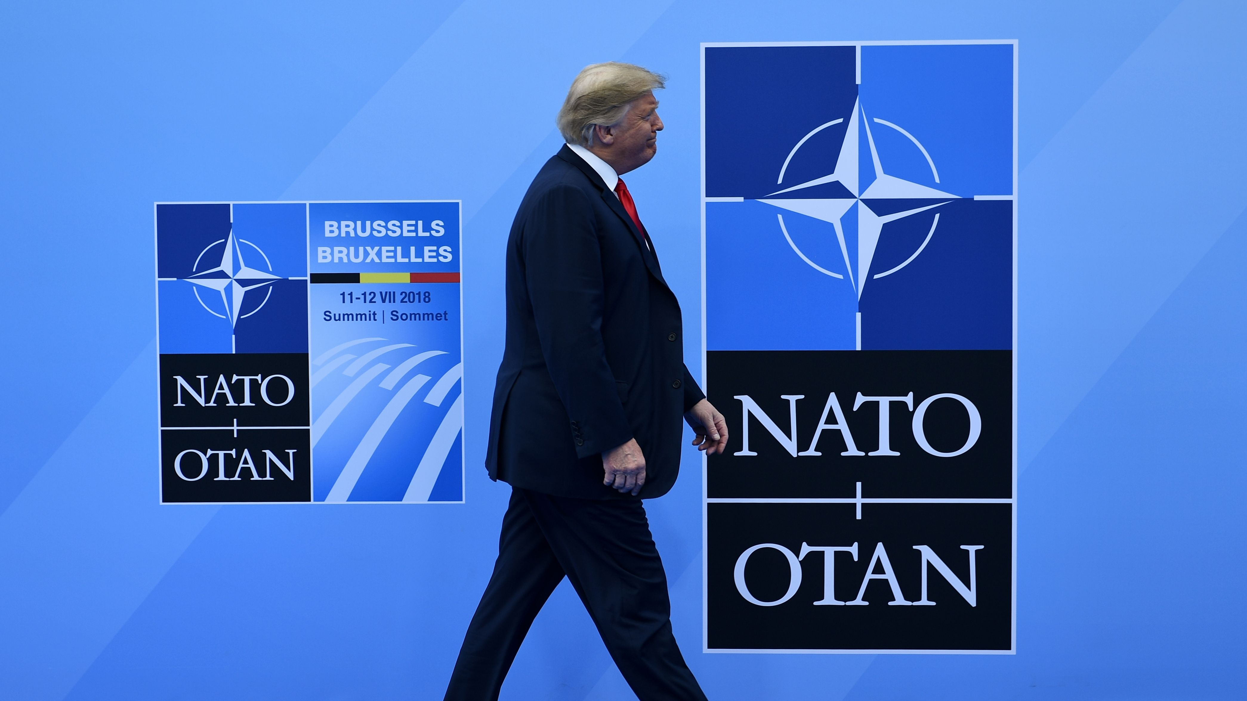 The Senate Armed Services Committee has made moves to make sure U.S. President Donald Trump doesn't abandon the NATO alliance. (BRENDAN SMIALOWSKI/AFP/Getty Images)