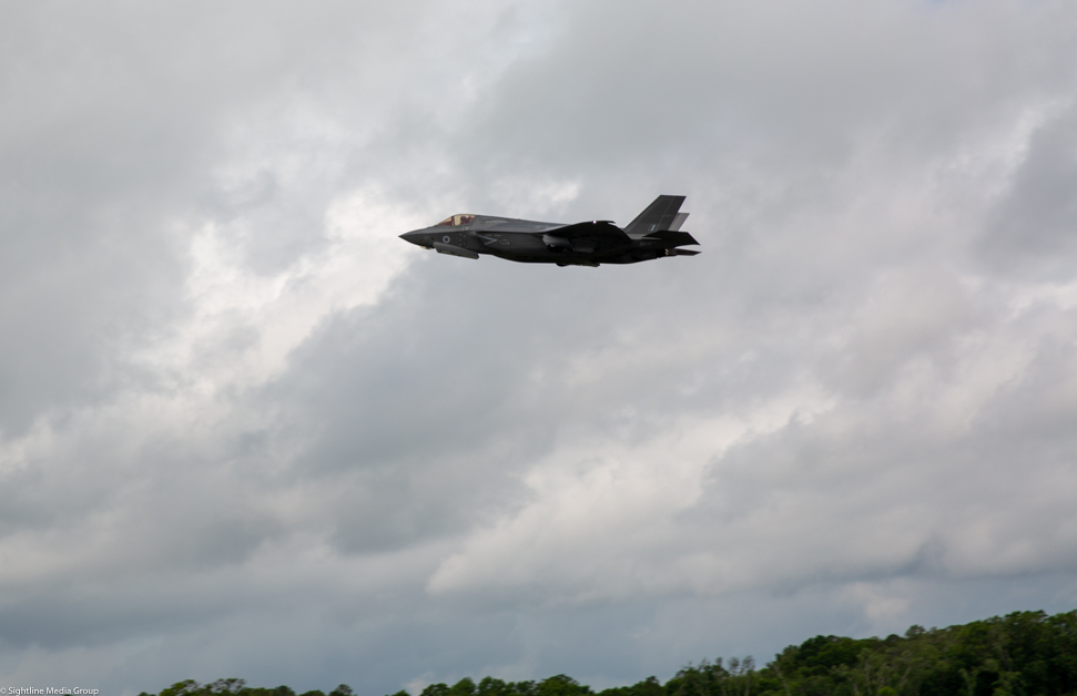 An RAF F-35B takes off for a training flight at MCAS Beaufort in South Carolina. (Jeff Martin/Staff)