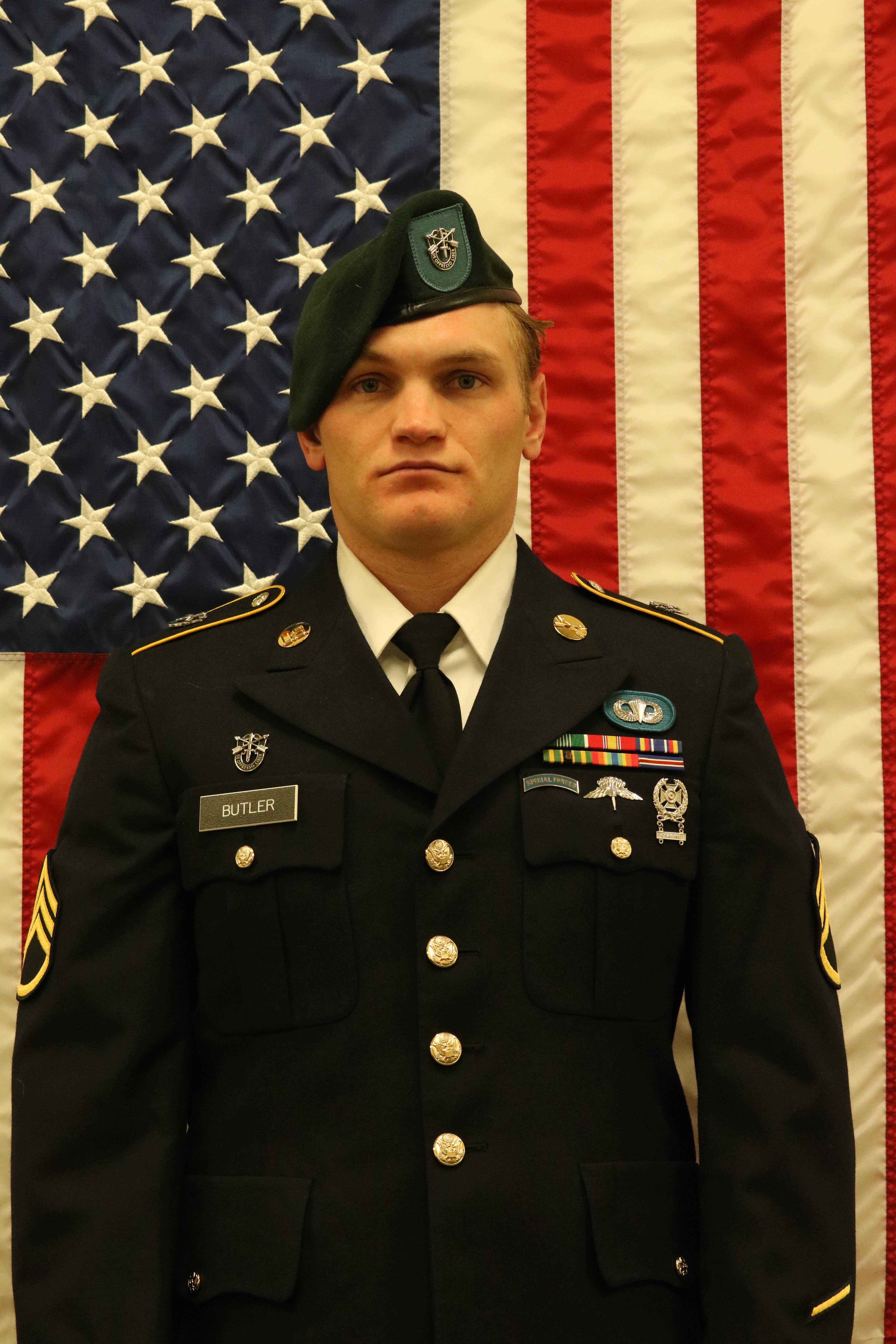 Staff Sgt. Aaron Butler, a Green Beret with 19th Special Forces Group, died Aug. 16, 2017, while conducting combat operations in Afghanistan. (Army)
