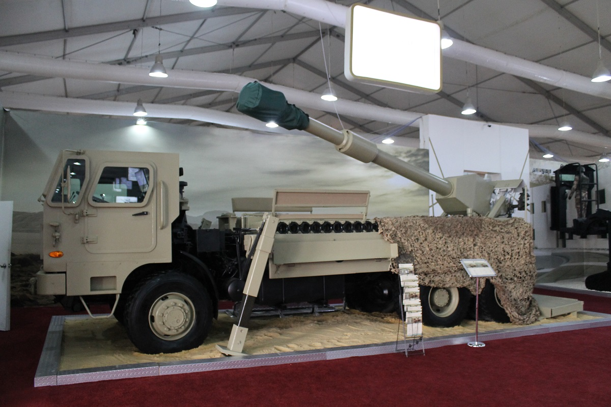 RUM II, developed by the King Abdullah II Design and Development Bureau, incorporates a 155mm howitzer on the back and gives artillery units the ability to